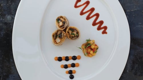 Neven Maguire's Curried Chicken Spring Rolls with Pineapple Salsa