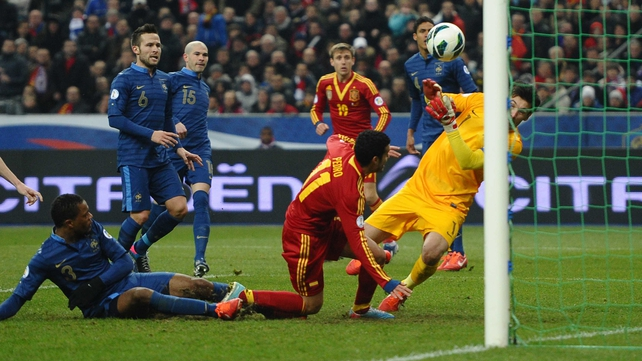 Pedro grabbed the only goal of the game as Spain saw off France in Paris
