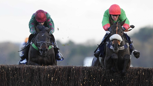 The Rainbow Hunter (r) is a 66-1 outsider for the Grand National
