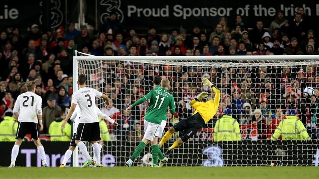 Ireland concede the late equaliser against Austria
