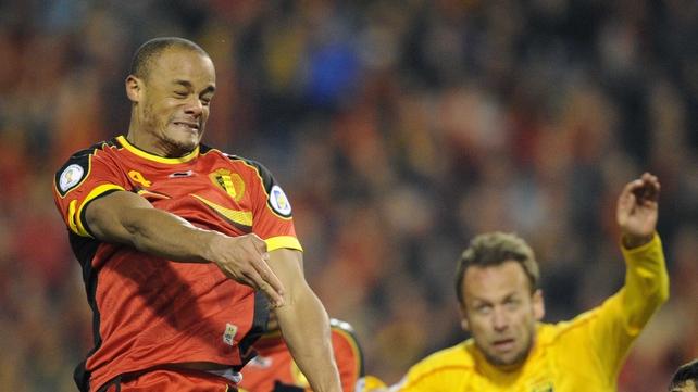 Vincent Kompany made his comeback for Belgium