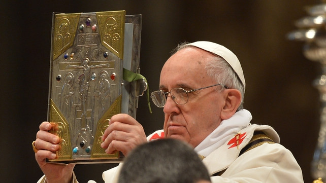 Pope Francis leads the Chrism mass on Holy Thursday