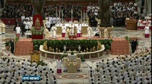 Pope celebrates Mass on Holy Thursday