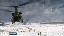 Air Corps helicopters help farmers in the North