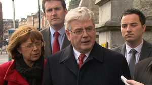 Eamon Gilmore denied suggestions his leadership was under pressure