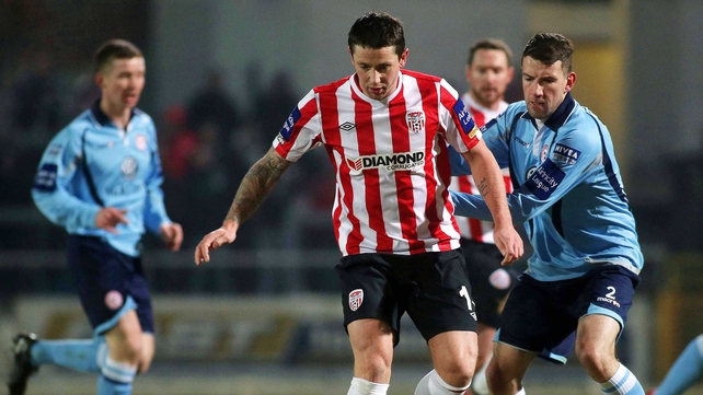 Derry will be hoping that Rory Patterson's rich vein of scoring continues