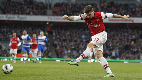 Giroud adds Arsenal's third