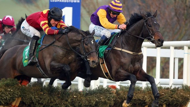 Former Cheltenham Festival winner Noble Prince (r) is reported to have come on significantly for his recent comeback