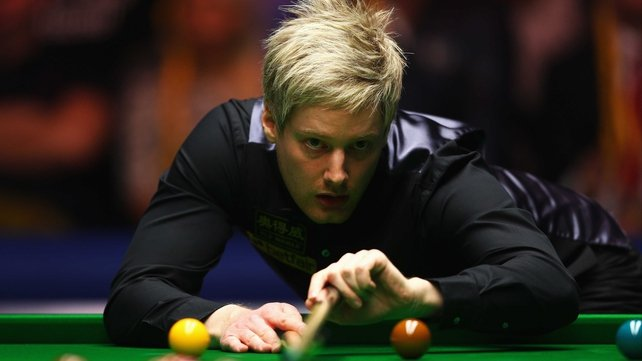 Neil Robertson led 6-1 after the opening session