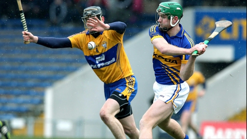 Tipperary's Noel McGrath and Patrick Donnellan of Clare