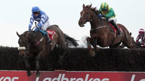 Liberty Counsel (l) on her way to winning the Fairyhouse feature last April