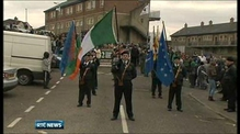 Police vehicles attacked during Derry rally