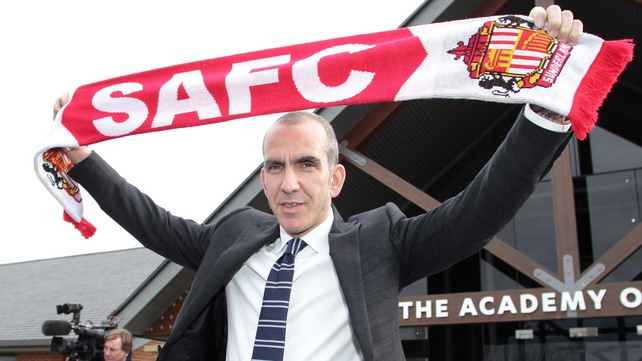 Paolo Di Canio poses in front of Sunderland's academy