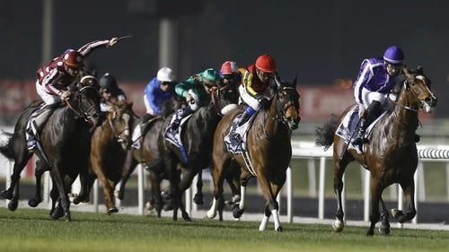 St Nicholas Abbey, beaten into second place in 2012, won the Dubai Sheema Classic