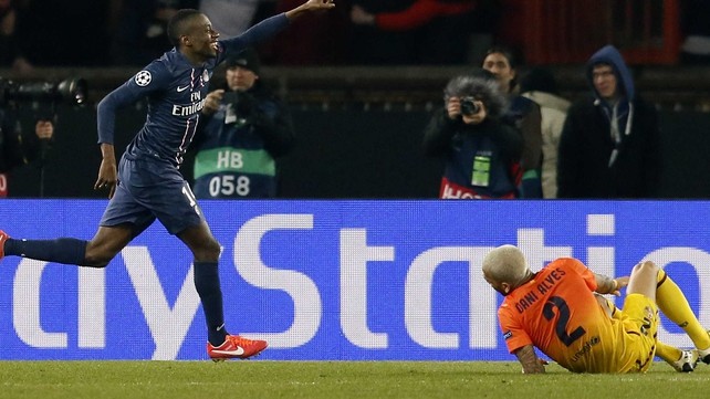 Paris Saint-Germain's French midfielder Blaise Matuidi scored with the last kick of the game