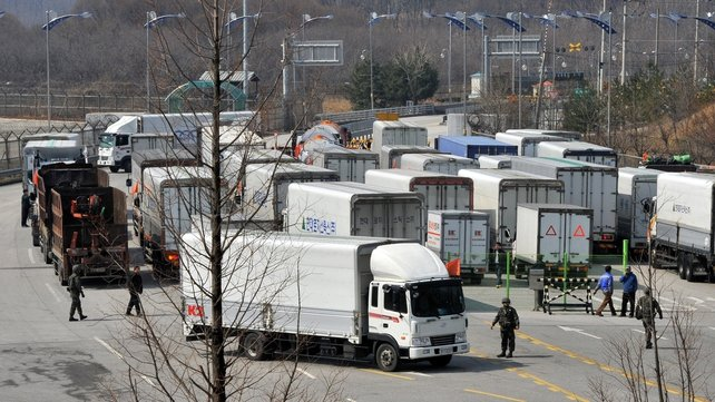 South Korean trucks were denied access to the industrial zone