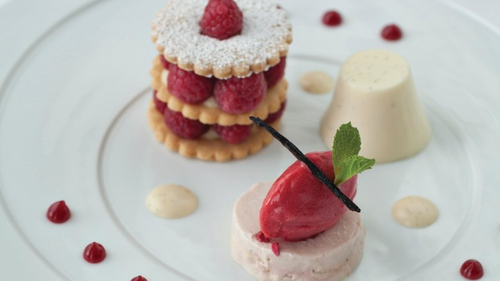 The combination of shortcake and buttermilk pudding makes for a fantastic, memorable dessert.