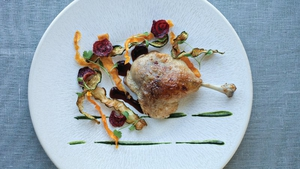 Neven Maguire's Duck Confit with Crispy Fried Vegetables