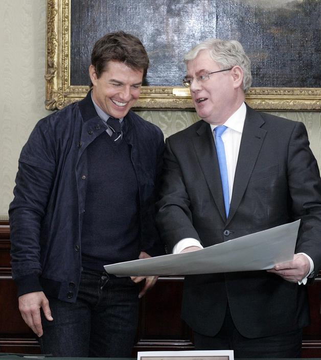 Eamon Gilmore and Tom Cruise