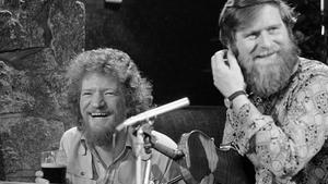 Legendary musician John Sheahan pictured with the late Luke Kelly, his fellow Dubliner.
