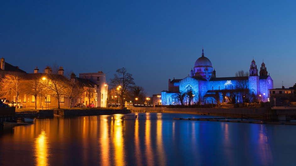 Galway Cathedral turned blue for World Autism Awareness Day (Pic: Kelvin Gillmor)