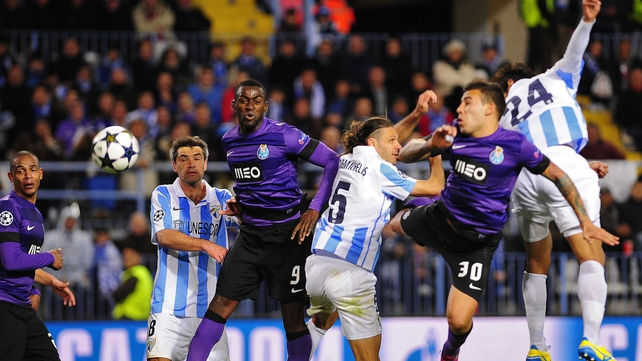 Malaga knocked out Porto in the last round