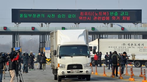 Border crossing that was used by South Korea to access Kaesong industrial park