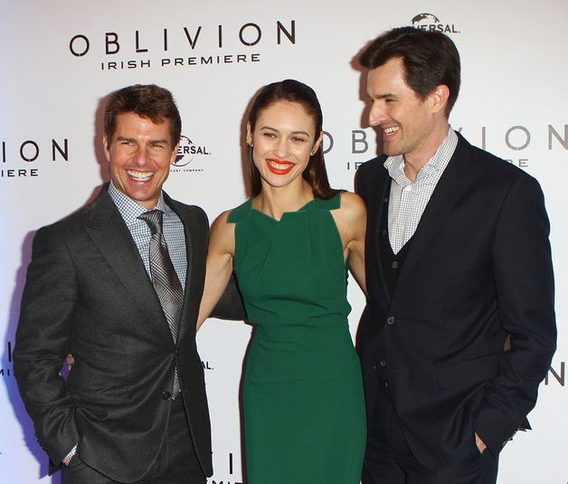 Cruise with Oblivion co-star Olga Kurylenko and director Joseph Kosinski