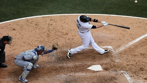 Tyler Flowers of the Chicago White Sox bats against the Kansas City Royals on the Opening Day of the baseball season