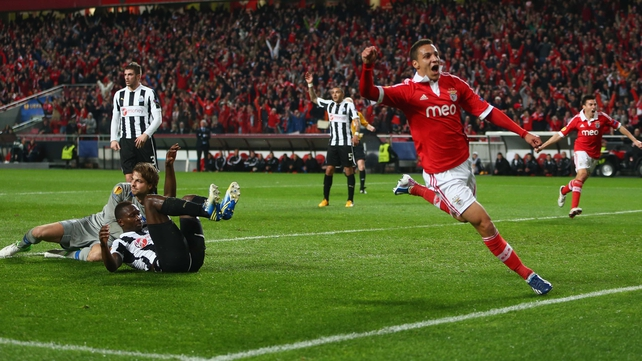 Rodrigo helped Benfica take a two-goal lead to St James' Park