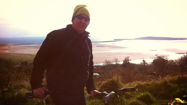 Ed gets on his bike