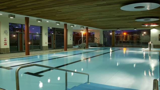 The 20-metre indoor heated pool