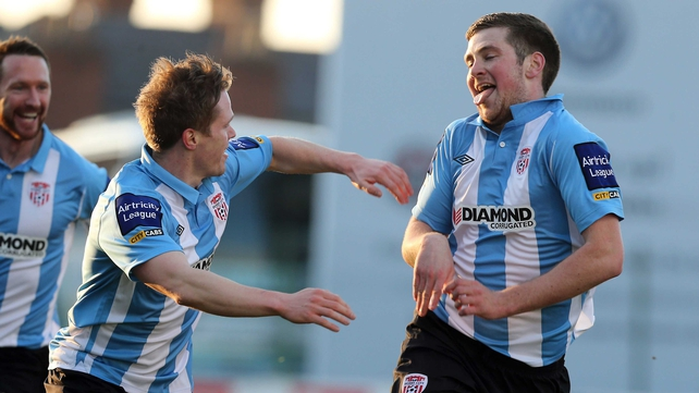 Patrick McEleney's stunning strike put Derry City on the way to this win