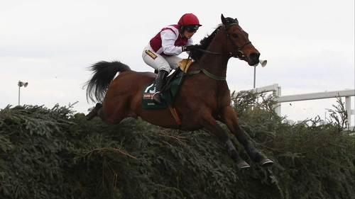 Seabass and Katie Walsh in action at last year's Aintree Grand National