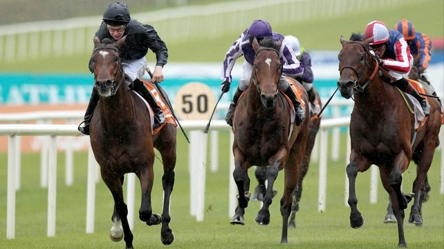 Foxtrot Romeo (right) flew home to finish second to Roderic O'Connor in the 2011 Irish 2000 Guineas