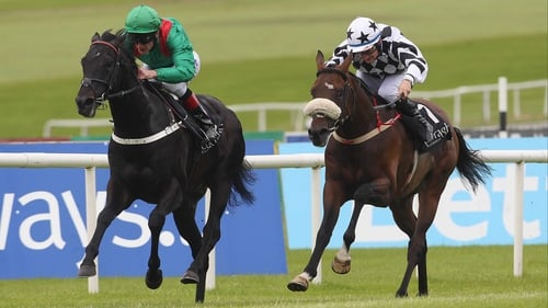 Orgilgo Bay (right), finishing second to Dibayani last year.