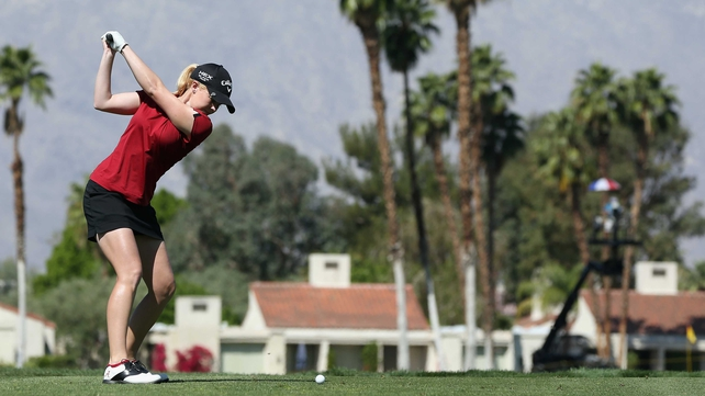 Stephanie Meadow hit five birdies in her final 10 holes at Mission Hills on Saturday