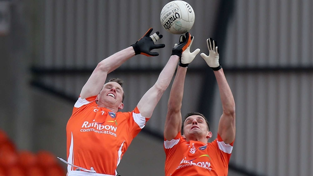 Armagh's Finnian Moriarty and Stephen Harold helped their side retain Division 2 status