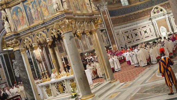 Pope Francis formally installed as Bishop of Rome today