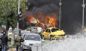 The bomb exploded near the Sabaa Bahrat Square, one of the capital's biggest roundabouts