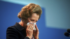 Mrs Thatcher pictured the day after the day after the IRA bombed the Grand Hotel in Brighton in 1984