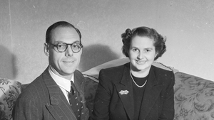 Future prime minister Margaret Roberts with her fiance Denis Thatcher in October 1951