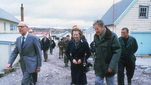 Mrs Thatcher and her husband Denis visiting Stanley Junior School, in the Falkland Islands in 1983