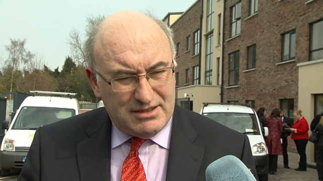 Phil Hogan said Micheál Martin is obviously desperate to try to get some attention for his party