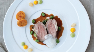 Neven Maguire's Rump of Local Lamb with Pea Purée and Rosemary Jus