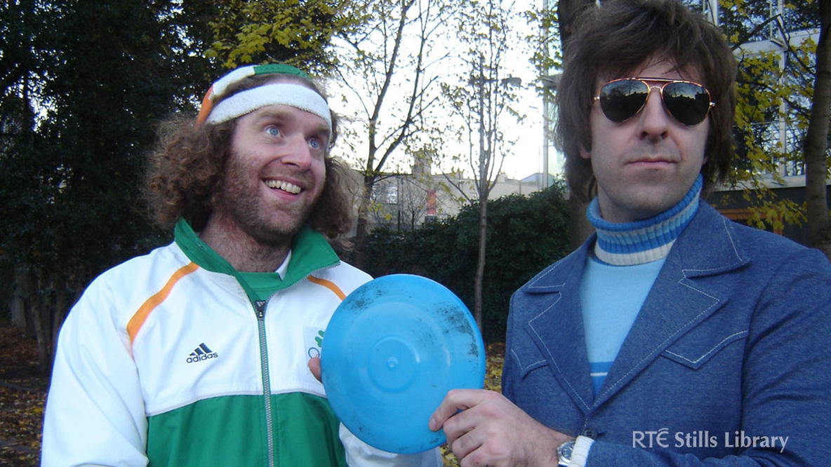 Who is this actor with Irish comedian David O'Doherty (right)?