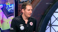 Sligo Rovers goalkeeper Gary Rogers is guest on elev8 and then shows his shot-stopping abilities.