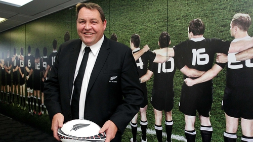 Steve Hansen at a press conference in Wellington