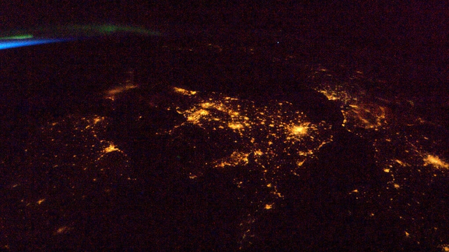 Tonight's Finale: Our golden lights from Dublin to Paris, Nature's from green aurora to blue dawn
