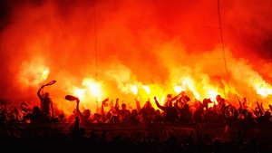 Galatasaray fans made themselves at home at the Bernabeu for their Champions League clash against Real Madrid